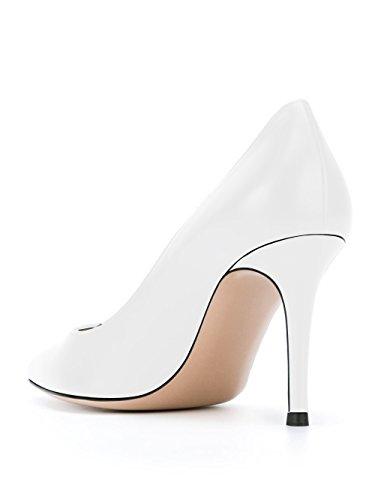 Escarpins Grande Talon Haut Sexy Escarpins Femme Soireelady Chaussures Taille Blanc HUwY7q