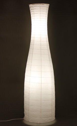 Trango® Reispapierlampe Stehlampe Reispapierleuchte moderne Design Stehleuchte 125 x 35cm (in weiß/Flaschenform TG1231)