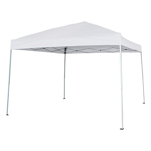 Cloud Mountain Outdoor 10x10 Ft Canopy Instant Pop up Canopy Tent Patio Garden Gazebo Portable Lightweight Folding Canopy with Carrying Bag, White ()