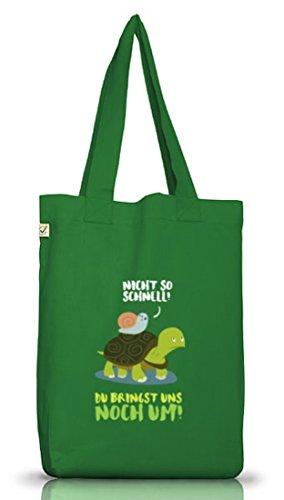 ShirtStreet Turtle Jutebeutel Stoffbeutel Earth Positive mit Turbo Schildkröte Motiv Moss Green 402DbUh