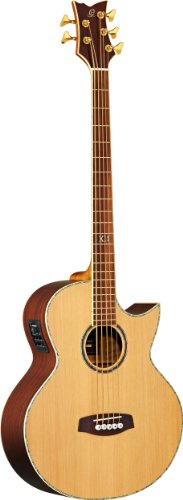 Ortega Guitars D2-5 Deep Series Two 5-String Acoustic Bass with Solid Cedar Top, Rosewood Body, Satin (Cedar Top Acoustic Guitar)