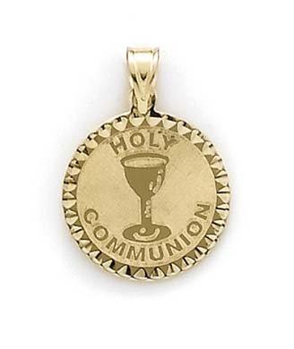 Pendentif rond Large 14 carats JewelryWeb Communion