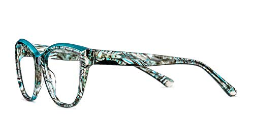 De Tã¼rkis Marmor Mujer Montura Kristall Gafas Stil Etnia Barcelona X large Para Azul EZwzxR