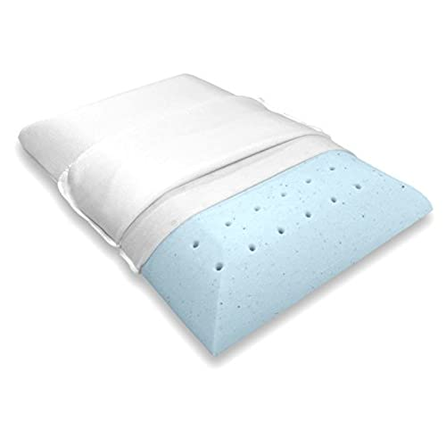 bluewave bedding ultra slim gelinfused memory foam pillow ventilated thin and flat pillow