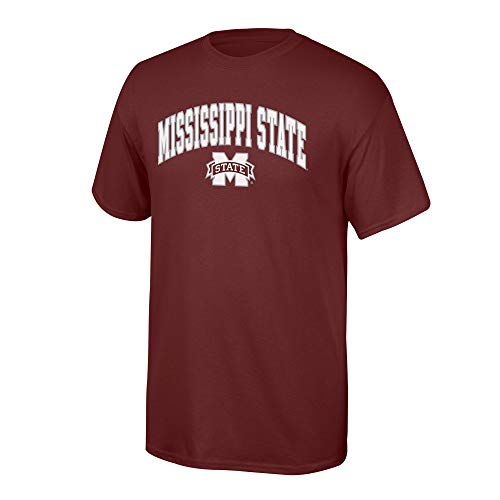 Elite Fan Shop NCAA Men's Mississippi State Bulldogs T Shirt Team Color Arch Mississippi State Bulldogs Maroon XX Large (The University Of Mississippi Sports Team Name)