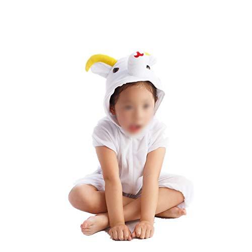 Halloween Cosplay Jumpsuit Animal Performance Costume Long Sleeve One Piece,Aries Short,110cm]()