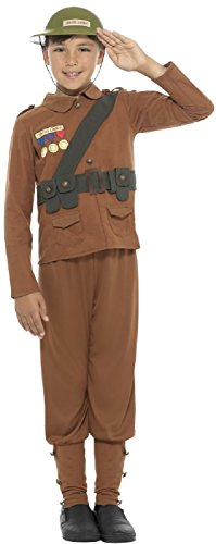 Boys Horrible Histories Soldier WWI WWII British History TV Film World Book Day Week Fancy Dress Costume Outfit (10-12 Years) ()
