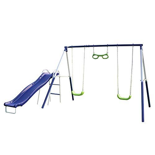 Sportspower Sierra Vista Metal Swing and Slide Set