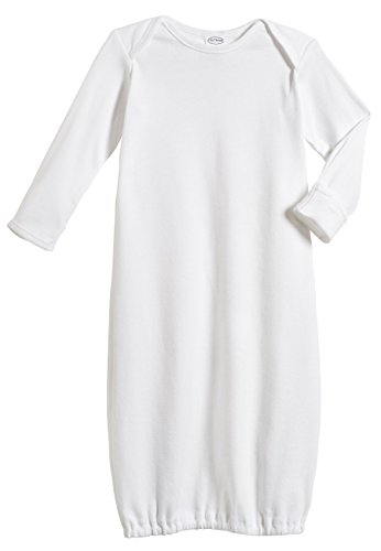100% Cotton Baby Sleeping Bag Gown - White - 0/3 m