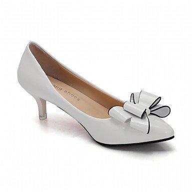 Le donne eleganti sandali SEXY DONNA PRIMAVERA tacchi cadono Comfort similpelle Office & Carriera Abito casual Stiletto Heel Bowknot nero rosa rosso bianco , rosa , us4 / EU36 / UK3 big kids