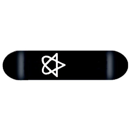 Heartagram Skateboard DECK cky bam BLACK 7.63 ()