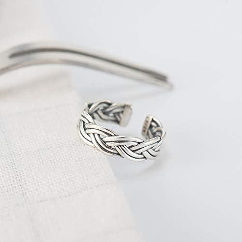 Guzhile Bague de pouce ouverte pour femme taille r/églable en argent sterling 925 motif n/œud damour /éternel style celtique classique