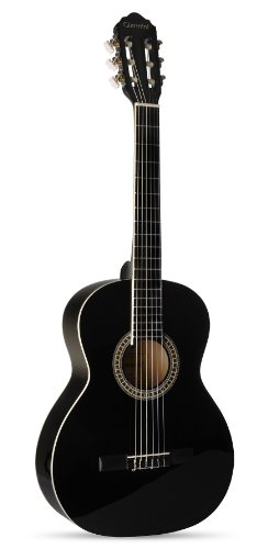 Giannini GN-15 BK Nylon String Acoustic with Spruce Top, Rosewood Neck, Glossy Black Finish