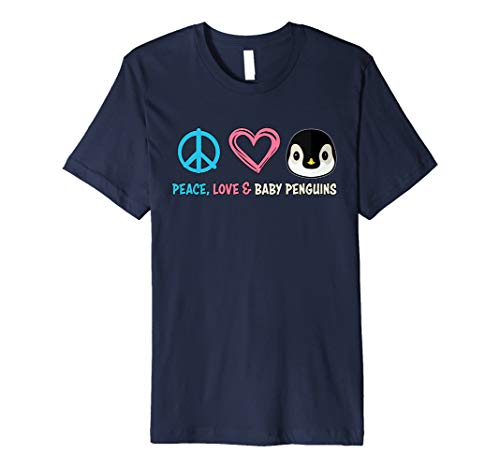 Baby Penguin T-Shirt: Premium Peace Love and Penguins Shirt
