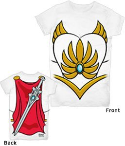 He-Man She-Ra Costume White Juniors T-Shirt