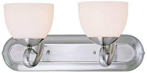 Classic Lighting 71012 BN Odyssey, Glass and Steel, Vanity Lighting, 8
