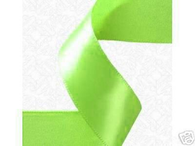 "3/8""x100 yds Double Face Satin ribbon-Apple Green"
