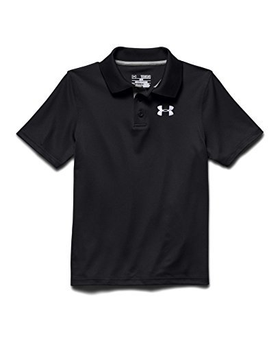 Under Armour Big Boys' UA Match Play Polo Youth Large Black Color: Black/White Size: Large Model: - Black Polo Model