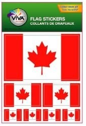 Canada Country Flag Set of 7 Different Size Decal Stickers ... New in Package