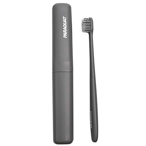 Ktyssp Clean Care Teeth Whitening Charcoal Activated Travel Toothbrush (Gray)