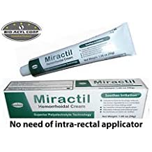 Miractil - Superior Hemorrhoid Treatment - No internal insertion necessary! Easy-to-Use, HIGHLY EFFECTIVE, Fast Acting Hemorrhoid Treatment