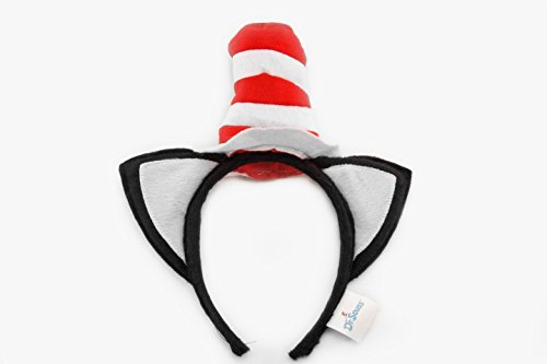 elope Dr. Seuss Cat in The Hat Costume Headband with Ears - http://coolthings.us