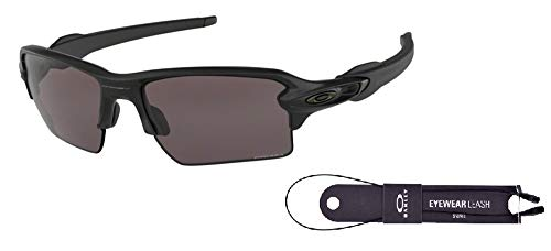 Oakley Flak 2.0 XL OO9188 918873 59M Matte Black/Black Prizm Sunglasses For Men+BUNDLE with Oakley Accessory Leash Kit