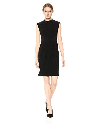 Black Dress Adrianna Jersey Matte Papell Women's Sheath pHHfYSqn