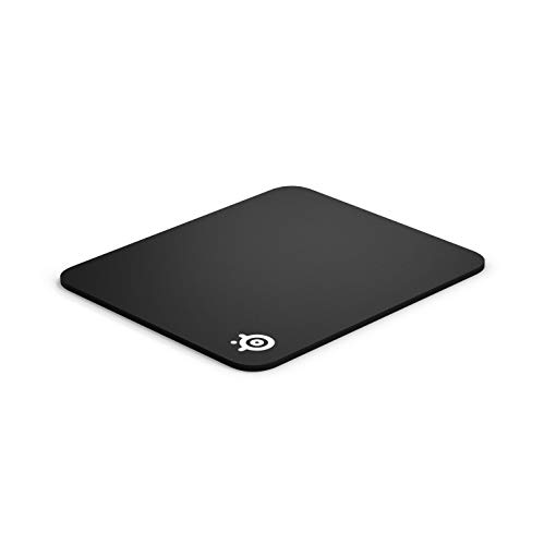 SteelSeries QcK Gaming Surface - Medium Thick Cloth - Best Selling Mouse Pad of All Time - Peak Tracking and Stability - Black