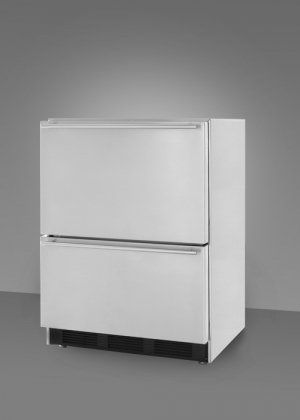 Summit Stainless Steel Outdoor Refrigerator (Summit Professional SP6DS2DOS 24 Outdoor Double Drawer Refrigerator 5.4 cu. ft. Capacity)