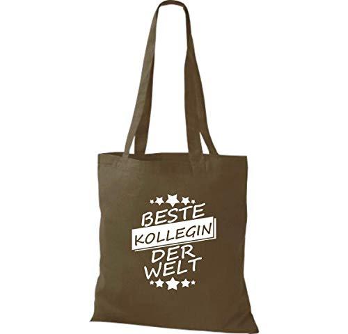 Tela Kollegin Algodón Bolsa Oliva Shirtinstyle De Mundo Mejor 7qPn4