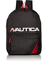 Nautica Men's Horizontal Zip Polyester Backpack with Padded Laptop Sleeve