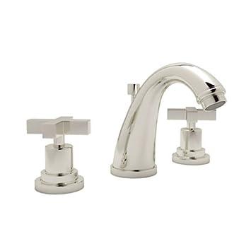 Rohl A1208xmpn 2 Avanti Bath Widespread Lavatory Faucet With Cross