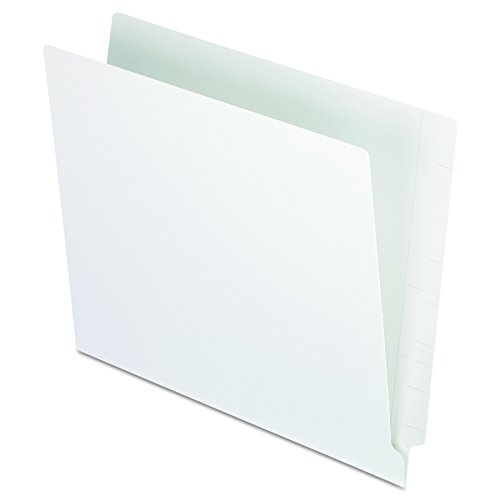 Pendaflex H110DW Reinforced 2-Ply Folders, Straight Cut, End Tab, Letter Size, WE, 100 per - Straight Pendaflex End Cut