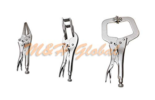 3 Pc Welding Tool Set C-Clamp Pliers Hand Vise Sheet Metal Curve Clamping Tool N17010