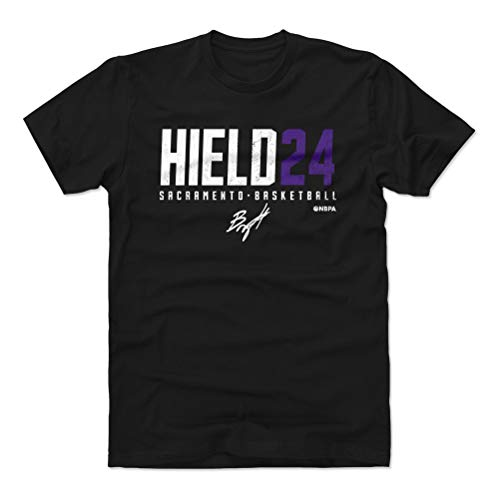 (500 LEVEL Buddy Hield Cotton Shirt (XX-Large, Black) - Sacramento Basketball Men's Apparel - Buddy Hield Hield24 P WHT)