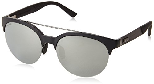 Gucci Men's Round Sunglasses, Matte Black/Black Mirror, One - Gucci Usa