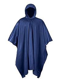 Mossi - Poncho de PVC, Azul Marino, Una Talla