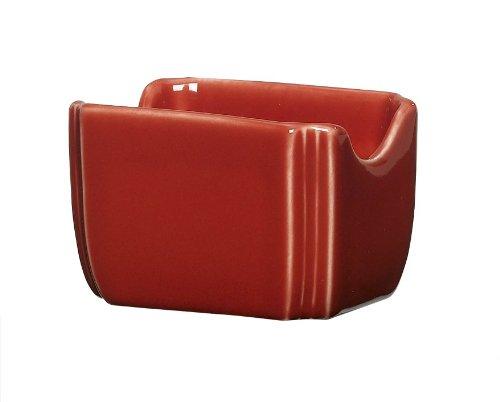 Fiesta 3-1/2-Inch by 2-3/8-Inch Sugar Packet Caddy, - Sugar Scarlet Fiesta