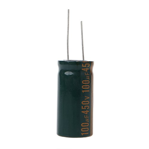 - 450V 100uF Capacitance Electrolytic Radial Capacitor High Frequency Low ESR