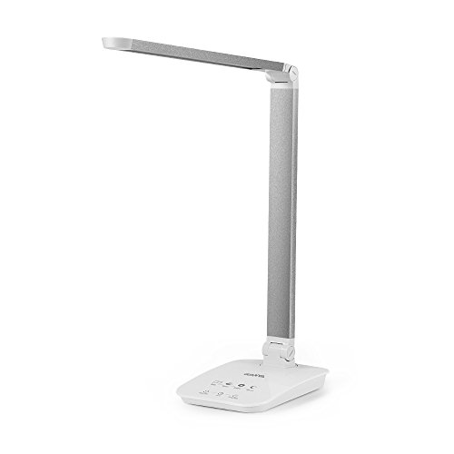 GUANYA  Dimmable Eye-Caring Table 8W LED Lamp with Auto-Timer, Silver