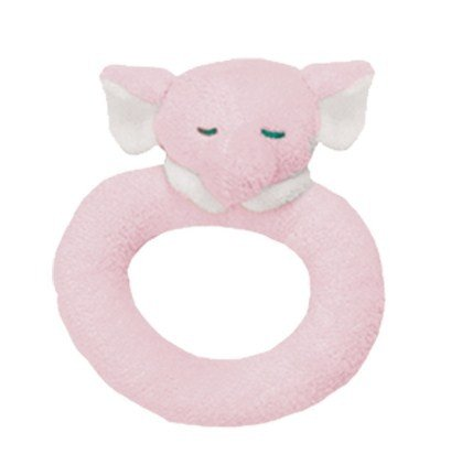 Pink Elephant Rattle - Angel Dear Ring Rattle, Pink Elephant