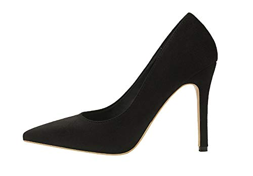 Style Simple Pointed Slim Women's Shoes high Heels Pumps(Black Lable 36/5.5 B(M) US Women) -