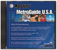 GARMIN MAPSOURCE METROGUIDE USA VERSION 4.02 W/PC AUTO ROUTING #010-10215-43
