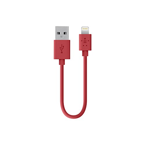 (Belkin Apple Certified MIXIT Lightning to USB Cable, 6 Inches (Red))