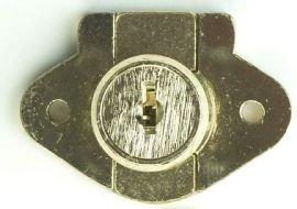 Corbin Cabinet Lock (CCL) 02066-US4-KA Deadbolt Drawer Lock, 1-1/8'' Cylinder Length, Satin Brass - Keyed Alike