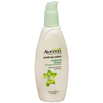Aveeno Positively Radiant Cleanser, With Moisture-Rich Soy Extracts - 6.7 Oz, 2 Pack Mandom Gatsby Facial Oil Blotting Film