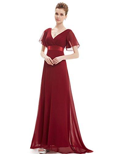 V-Neck Flutter Sleeve Dress - 8