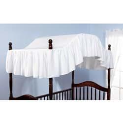 Pique crib canopy color white crib for White canopy crib