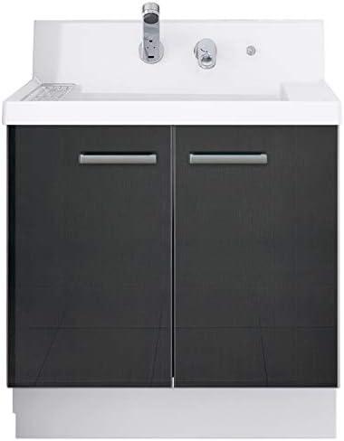 イナックス(INAX) 洗面化粧台 K1シリーズ 幅75cm 両開きタイプ シングルレバーシャワー水栓 K1N4-755SY/YD2H 一般地用 ウェンゲチャコール(YD2H)
